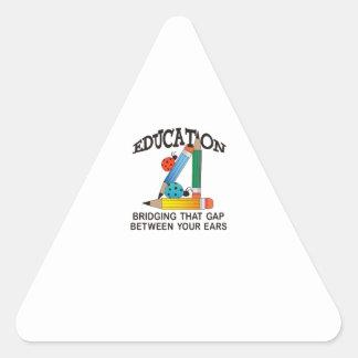 EDUCATION BRIDGING GAP TRIANGLE STICKER
