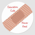 Education Cuts Never Heal Sticker