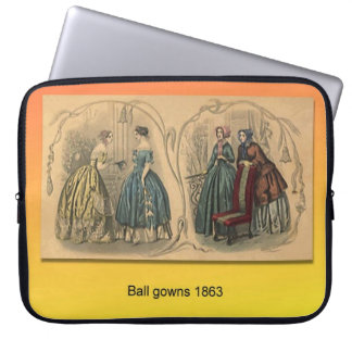 Education, History,   Fashion, Ballgowns 1863 Laptop Computer Sleeves