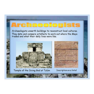 Education, History,  Mayan archaeology Postcard