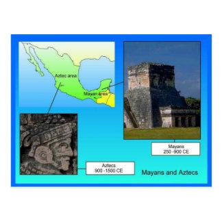 Education, History, Mayans and Aztecs Postcard