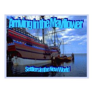 Education, History, Mayflower, Settlers Postcard