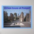 Education, History, Romans, Atrium house, Pompeii Poster