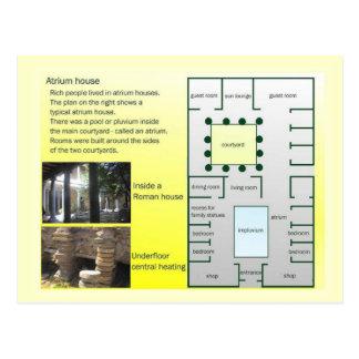 Education, History, Romans, Atrium House Post Card