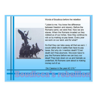Education History Romans Boudicca s rebellion Post Card
