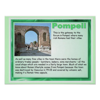 Education, History, Romans, Pompeii Poster