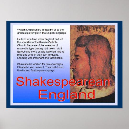 Education, History, Shakespearean England Poster