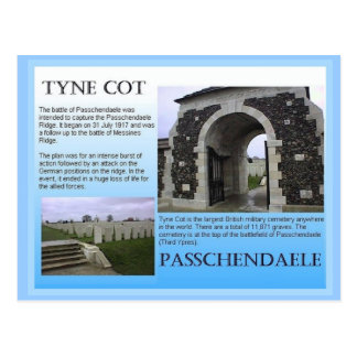 Education, History, World War I,  Tyne Cot Postcard