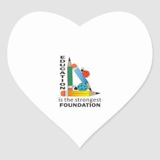 EDUCATION IS HEART STICKERS