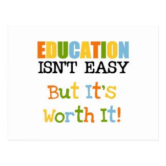 Education is Worth It Postcard