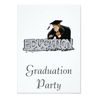 Education is your Foundation 13 Cm X 18 Cm Invitation Card