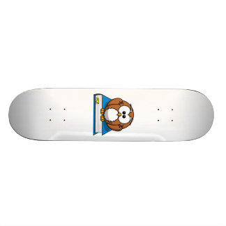 Education Owl on Blue Book Skate Decks