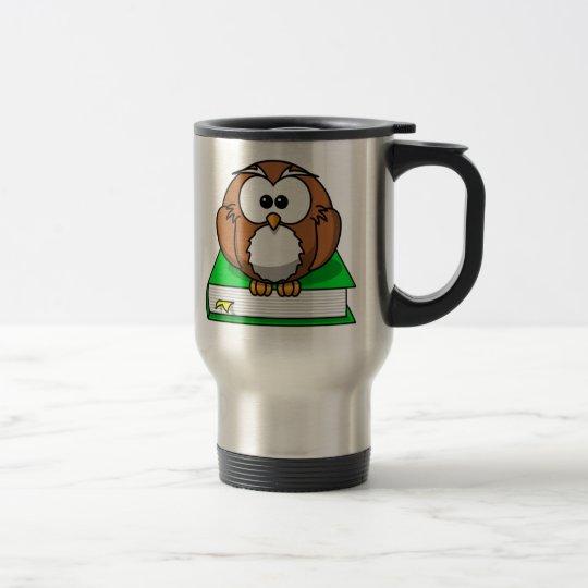 Education Owl on Green Book Travel Mug