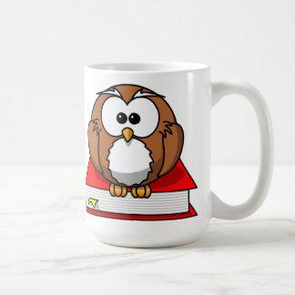 Education Owl on Red Book Mug