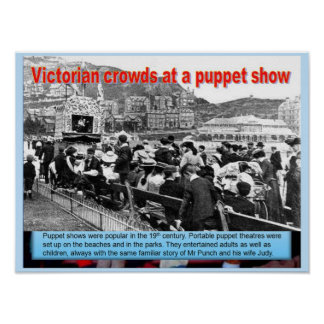 Education Performing Arts Crowds watch puppets Posters