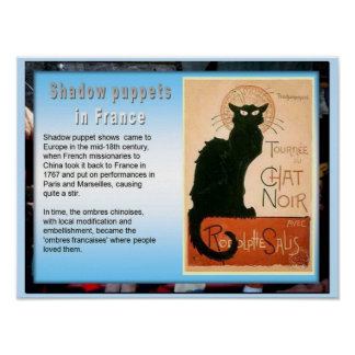 Education Performing Arts French shadow puppets Poster