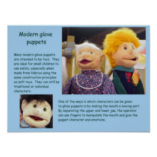 Education Performing Arts Glove Puppets Poster