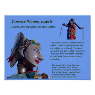 Education,Performing Arts, Javanese Wayang puppets Print