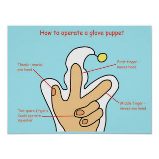 Education Performing Arts Operating Glove Puppets Print