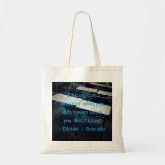 Education Quote Budget Tote Budget Tote Bag