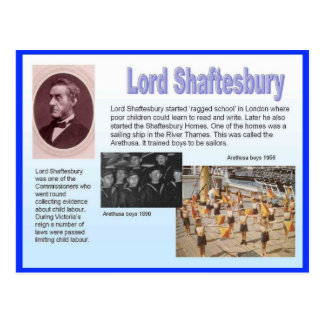 Education, reformers, Lord Shaftesbury Postcard