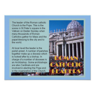Education, Relgion, Roman Catholic leaders Poster