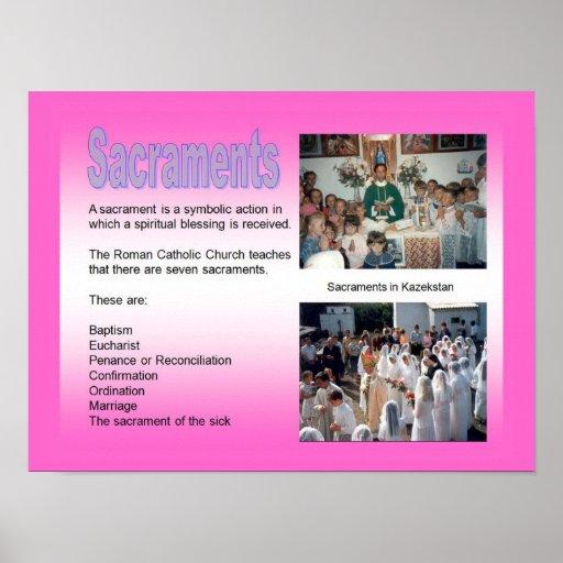 Education, Relgion, Roman Catholic, Sacraments Poster