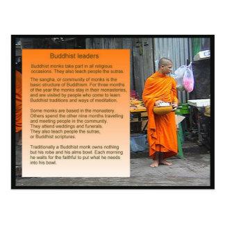 Education, Religion, Buddhist leaders Postcard
