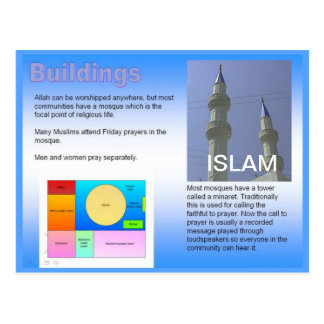 Education, Religion, Islam,  Muslim buildings Postcard