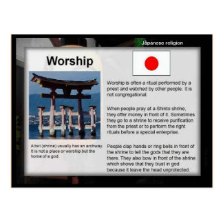 Education, Religion, Japanese Shinto Worship Postcard