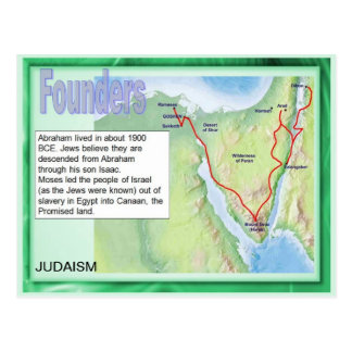 Education, Religion, Judaism, Founders Postcard