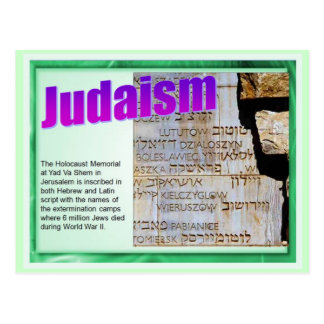 Education,  Religion,  Judaism, Holocaust Memorial Postcard