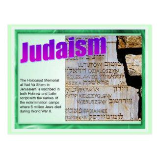 Education,  Religion,  Judaism, Holocaust Memorial Postcard