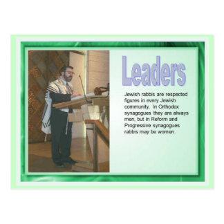 Education,  Religion, Judaism, Leaders Postcard