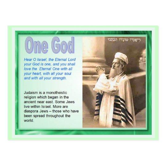 Education, Religion, Judaism, One God Postcard