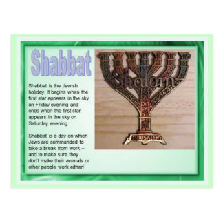 Education,  Religion, Judaism, Shabbat Postcard
