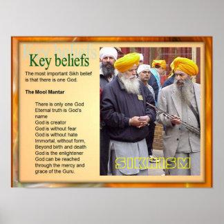 Education, Religion, Sikhism Key Beliefs Poster