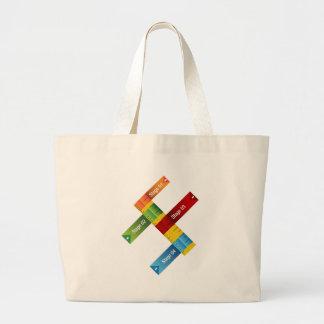 Education Ruler Chart Jumbo Tote Bag