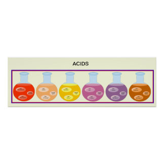 Education Science Acids Poster
