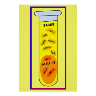 Education, Science, Bases and Alkalis Poster