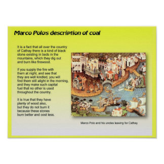 Education, Science,  Coal by Marco Polo Poster