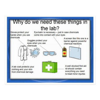 Education, Science, Laboratory safety Postcard