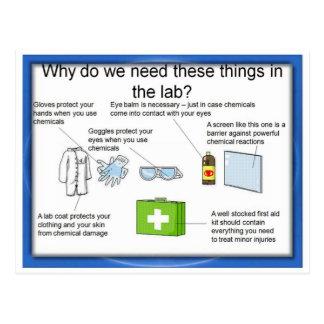 Education Science Laboratory safety Postcard
