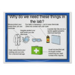 Education, Science, Laboratory safety Posters