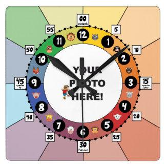 Educational Clock for Children (Square)