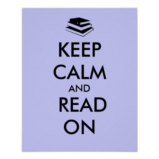 Educational Poster Stack of Books Keep Calm Read