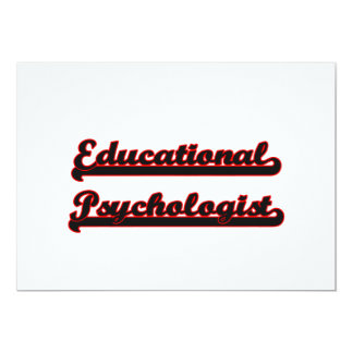 Educational Psychologist Classic Job Design 5x7 Paper Invitation Card