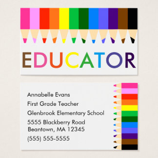 Educator Rainbow Business Card