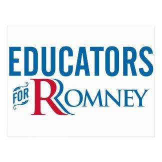 Educators For Romney Postcard