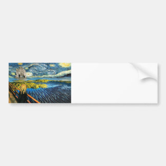 Edvard Meets Vincent Bumper Sticker